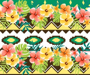 wallpaper, flowers, and tropical image