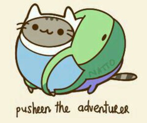pusheen, adventure time, and cat image