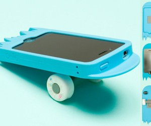 iphone, phone, and skateboard image