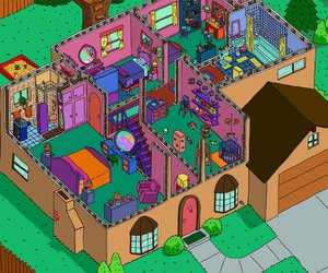 house, simpsons, and cartoon image