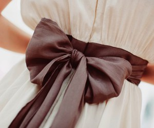 dress, bow, and white image