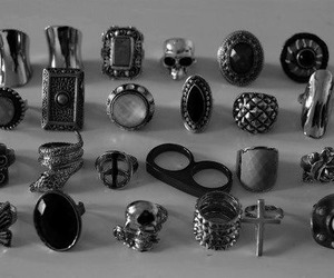 rings, ring, and skull image