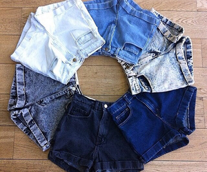 shorts, jeans, and summer image