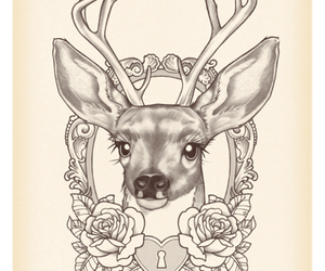 art, photography, and deer image