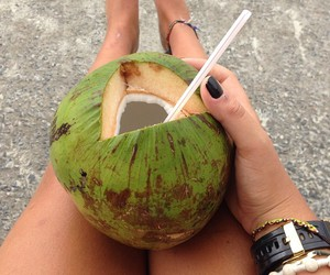 coconut, holidays, and legs image
