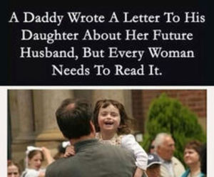 daughter, Letter, and daddy image