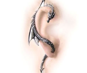 dragon, earring, and jewelry image