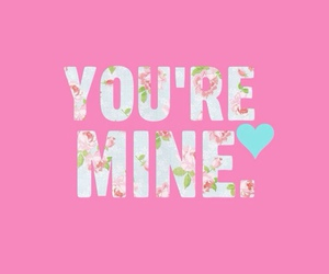 love, pink, and mine image