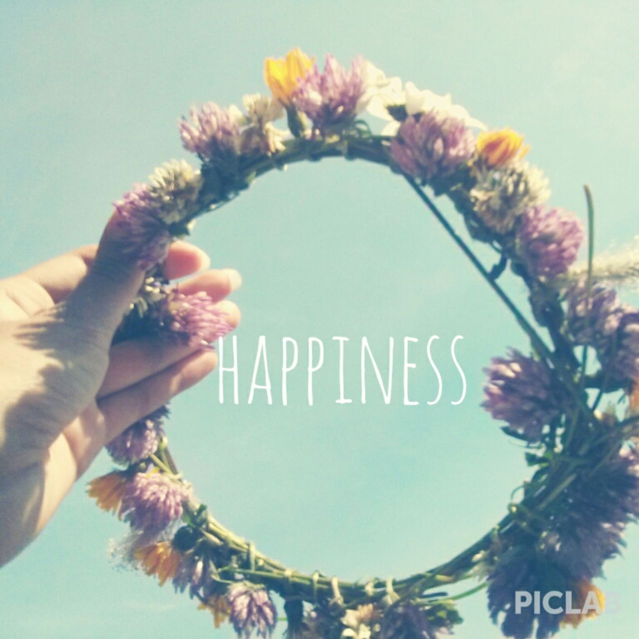 flowers and happiness image