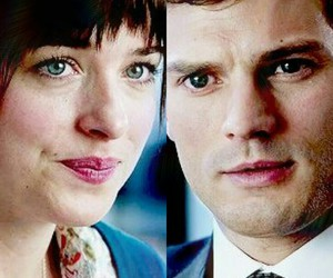 Jamie Dornan, anastasia steele, and dakota johnson image