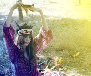 girl, hippie, and indian image