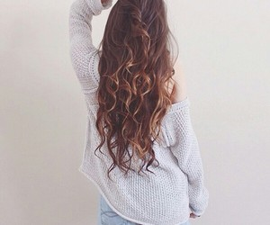 hair, tumblr, and brunette image