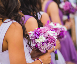 bouquet, wedding day, and flowers image