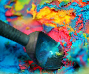 ice cream, food, and colorful image