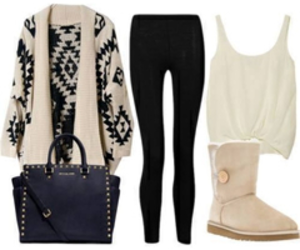 outfit, winter, and bag image