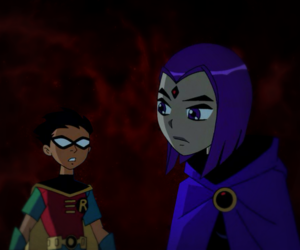 cartoons, raven, and robin image