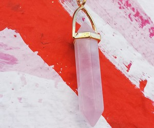 beautiful, necklaces, and rose quartz image