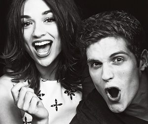 teen wolf, crystal reed, and daniel sharman image