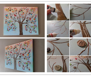 tree, diy, and buttons image
