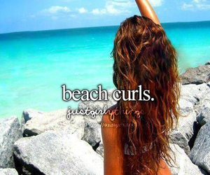 beach, curls, and hair image