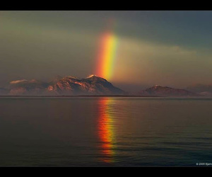 rainbow, beautiful, and clouds image