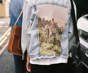 vintage, jacket, and grunge image
