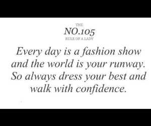 fashion, quote, and rules for a lady image