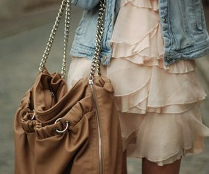 fashion, dress, and bag image