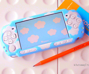 psp, cute, and clouds image