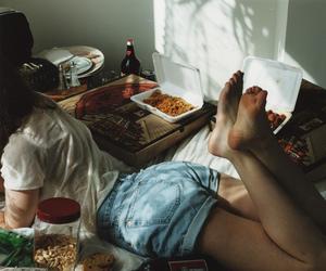 girl, food, and vintage image