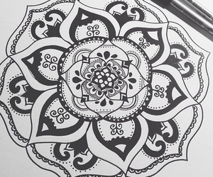 desenho, drawing, and flower image