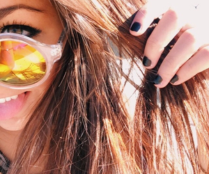 andrea, hair, and sunglasses image
