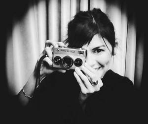 audrey tautou, black and white, and photo image
