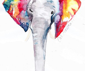 elephant, art, and drawing image