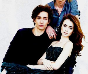 lily collins, Jamie Campbell Bower, and robert sheehan image