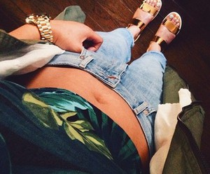 casual fashion, metallic, and sandals image