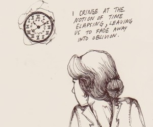 girl, drawing, and time image