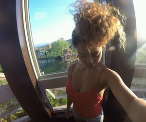 curly, hair, and crystal westbrooks image