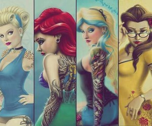 princess, disney, and tattoo image