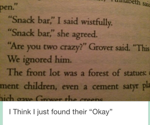 okay, snack bar, and percabeth image