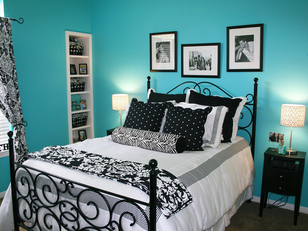 Bedroom Idea Black And Blue On We Heart It
