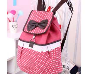 backpack, bow, and pink image