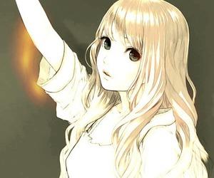 anime, anime girl, and blue eyes image
