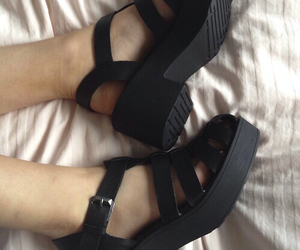 black, shoes, and sandals image