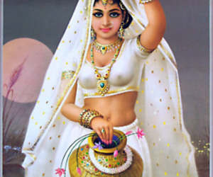 culture, girl, and Hindu image