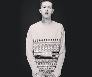 t.mills, black and white, and sexy image