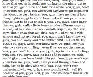 boys, feelings, and girls image