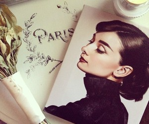 paris, audrey hepburn, and audrey image