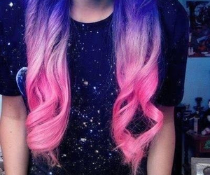 ombre, purple, and pink image
