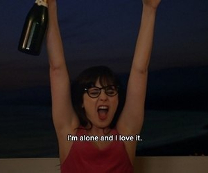 alone, quotes, and new girl image
